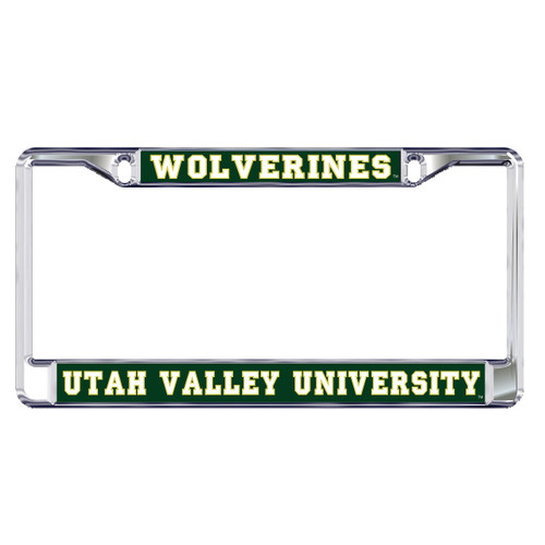 Utah Valley Plate Frame (DOMED UTAH VALLEY WOVERINES (46600))