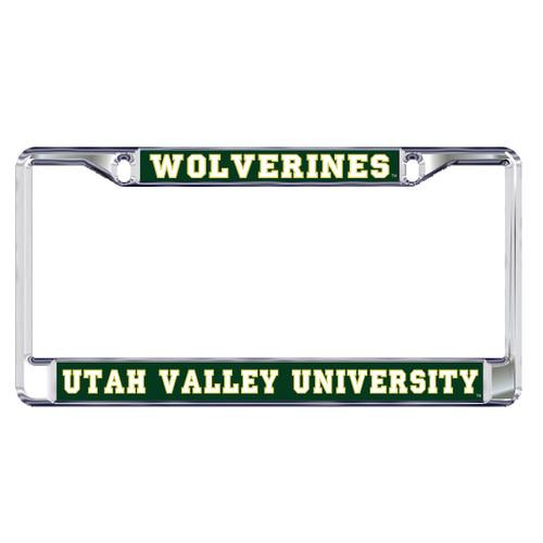 Utah Valley Plate Frame (DOMED UTAH VALLEY WOVERINES (46600))