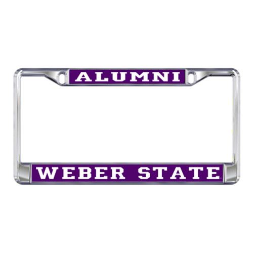 Weber State Plate_Frame (DOMED WSU ALUMNI METAL FR (46407))