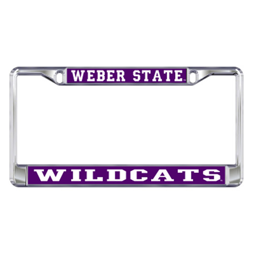 Weber State Plate_Frame (DOMED WSU WILDCATS METAL FR (46406))