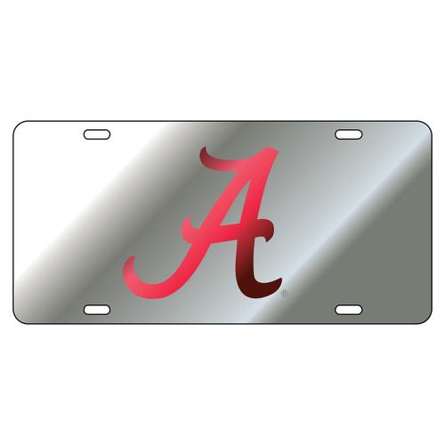 """Alabama Laser Cut """"A"""" Logo Inlaid Mirror Tags (Mirror)"""