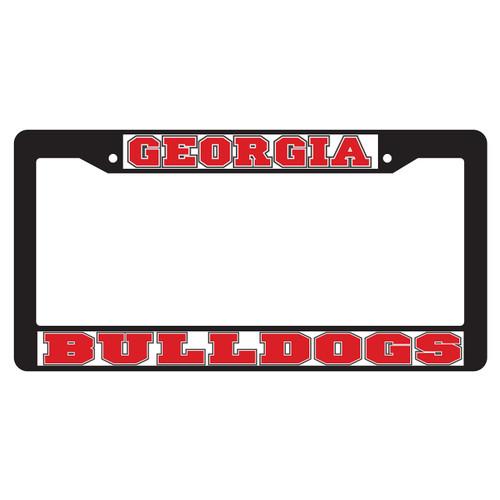 Georgia Bulldogs Plate Frame (BLACK PLATE FRAME GA BULLDOGS (04333))