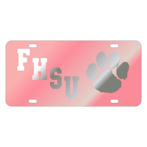 Fort Hays State TAG (LASER PINK/SIL FHSU PAW (98104))