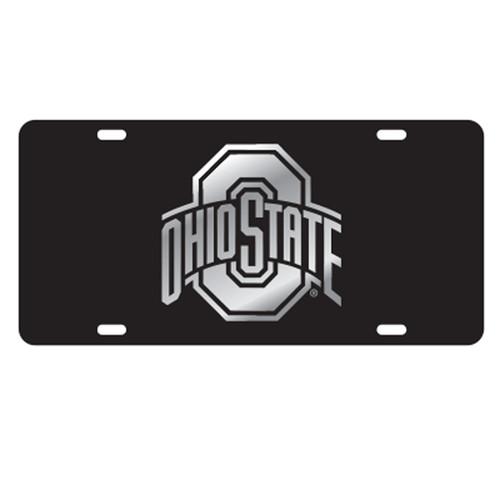 Ohio State University Tags (Black Acrylic with Mirror acrylic Logo (48070))