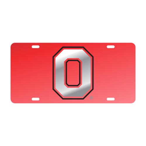 Ohio State University Tags (Red Mirror With Mirror/Black Logo (48147))