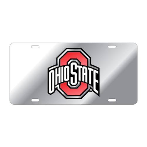 Ohio State University Tags (Mirror Acrylic with Red Mirror Acrylic Logo (48067))