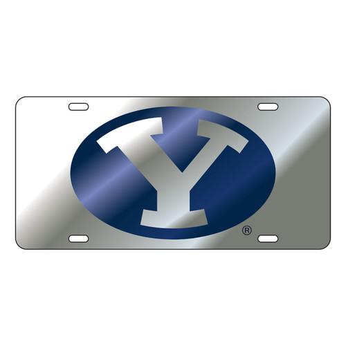 BYU Cougars Tag (LASER SIL/BLU/SIL Y TAG (45501))