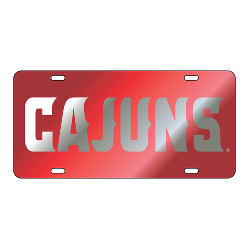 Louisiana-Lafayette Tag (LASER RED/SIL CAJUNS TAG (45001))