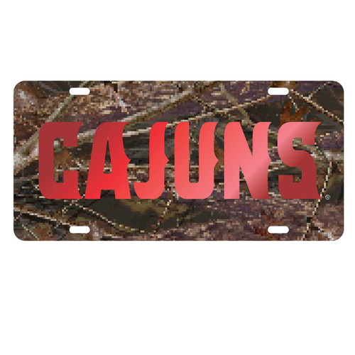 Louisiana-Lafayette Tag (LASER CAMO/RED CAJUNS TAG (45011))
