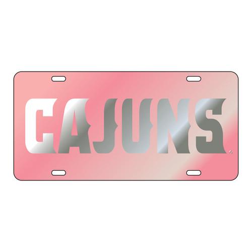 Louisiana-Lafayette Tag (LASER PINK/SIL CAJUNS TAG (45009))