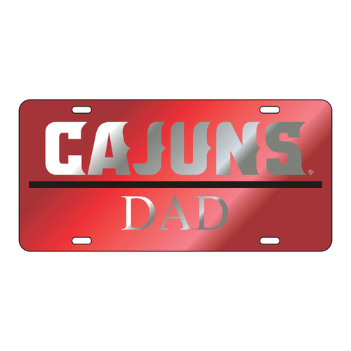 Louisiana-Lafayette Tag (LASER RED/SIL CAJUNS DAD TAG (45005))
