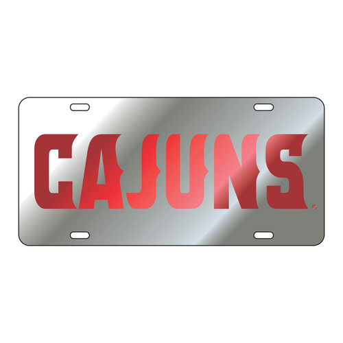 Louisiana-Lafayette Tag (LASER SIL/RED CAJUNS TAG (45002))