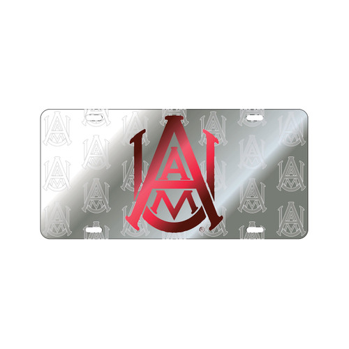 Alabama A&M Tag (LASER AAMU SATIN SYMBOL BK TAG (44039))
