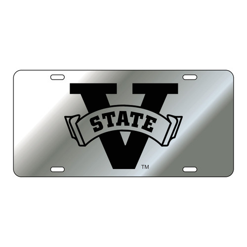 Valdosta State Tag (LASER SIL/BLK V-STATE (43090))