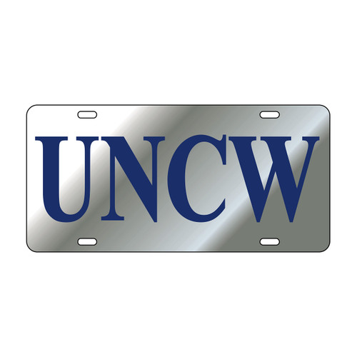 North Carolina-Wilmington TAG (LASER SIL/BLU UNCW TAG (42515))