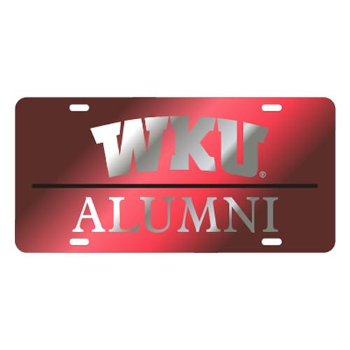 Western Kentucky TAG (LASER RED/MIR/BLK WKU ALUMNI (41548))