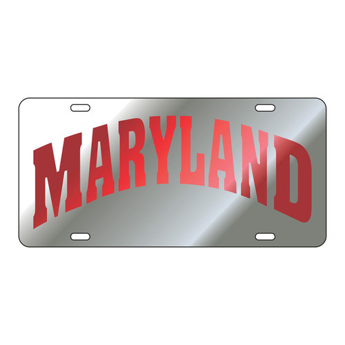Maryland Tag (LASER SIL/RED MARYLAND TAG (37501))