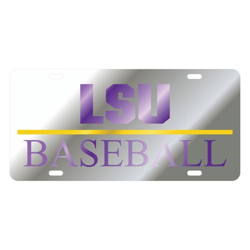 LSU TAG (LASER SIL/PUR/YEL LSU BASEBALL (37067))