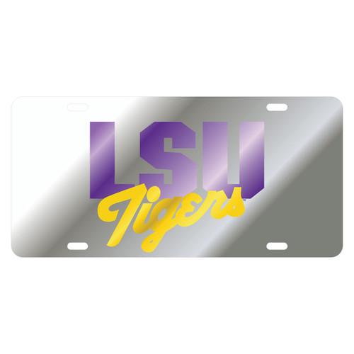 LSU TAG (LASER SIL/PUR/YEL LSU TIGERS (37015))