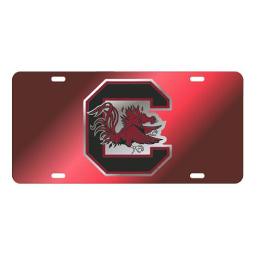 South Carolina TAG (LASER RED DOMED C GAMECOCK (31141))