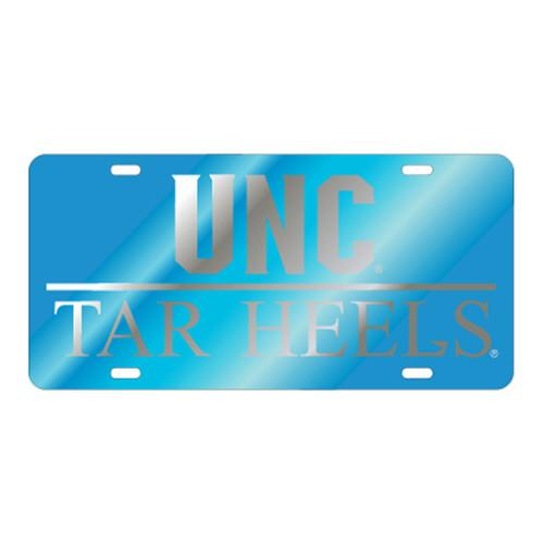 North Carolina TAG (LASER BLU/SIL UNC TAR HEELS (30047))