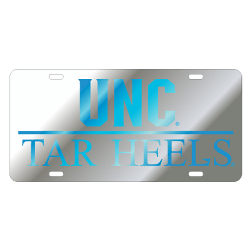 North Carolina TAG (LASER SIL/BLU UNC TAR HEELS (30046))