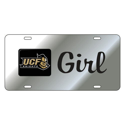 Central Florida Golden Knights Tag (LASER SILVER UCF GIRL TAG (29125))