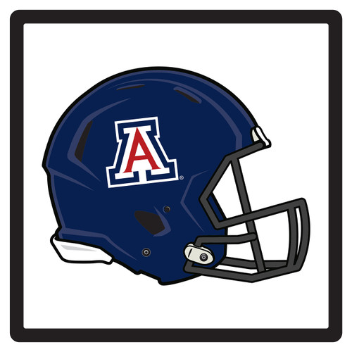 Arizona Wildcats Hitch Cover (DOMED ARIZONA HELMET HITCH (28622))