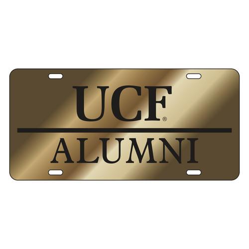Central Florida Golden Knights Tag (LASER GLD/BLK UCF ALUMNI (29014))