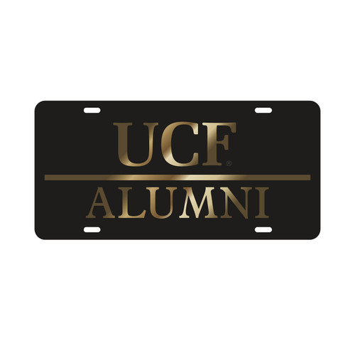 Central Florida Golden Knights Tag (LASER BLK/GLD UCF ALUMNI (29015))