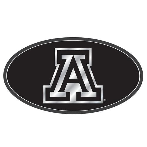 Arizona Wildcats Hitch Cover (DOMED MIR BLK/SIL AZ HITCH (28517))