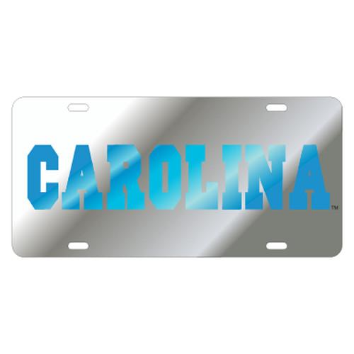 North Carolina TAG (LASER SIL/BLU CAROLINA (30044))