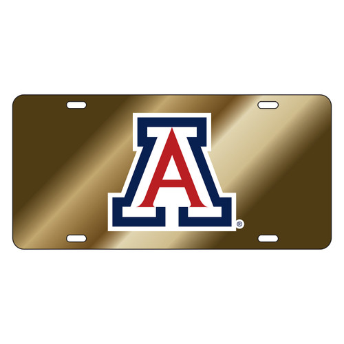Arizona Wildcats Tag (LASER GLD DOMED BLU/RED A TAG (28503))