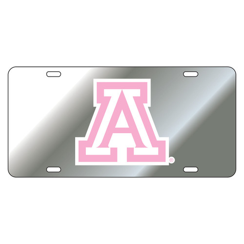 Arizona Wildcats Tag (LASER SIL DOMED PINK A TAG (28501))