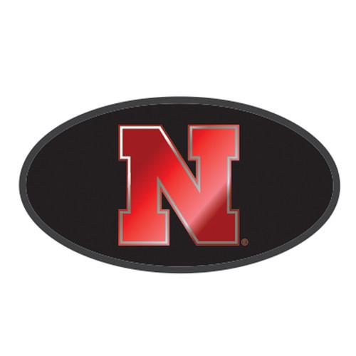 Nebraska HitchCover (BLK/SIL NEB HITCH COVER (27140))