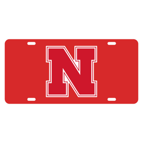 Nebraska TAG (RED REFLECTIVE N (27054))