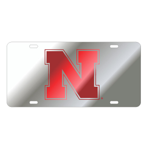 Nebraska TAG (LASER SIL/RED N (27048))