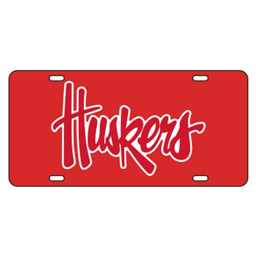 Nebraska TAG (RED RFLECTIVE N HUSKERS TAG (27050))