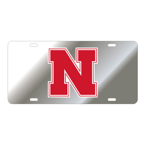 Nebraska TAG (SILVER REFL. RED N (27017))