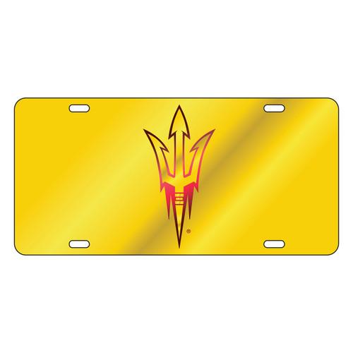 Arizona State Sun Devils Tag (LASER YEL/WINE PITCHFORK TAG (26722))