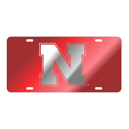 Nebraska TAG (LASER RED/SIL N (27049))