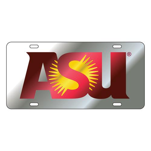Arizona State Sun Devils Tag (LASER SIL/WINE/YEL ASU TAG (26600))