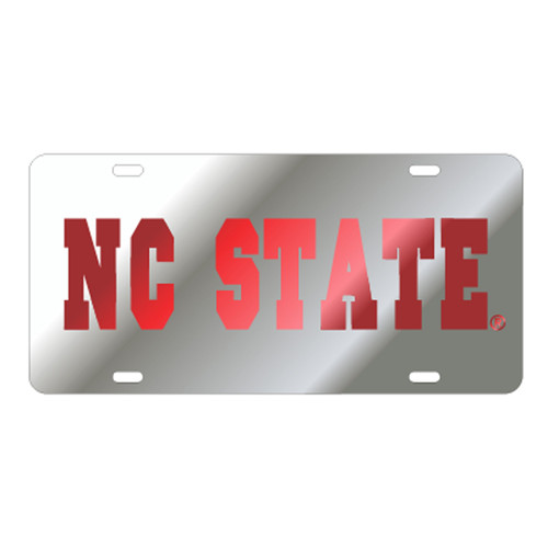 North Carolina State TAG (LASER SIL/RED NC STATE (26034))