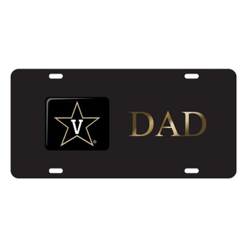 Vanderbilt TAG (LASER BLK/GLD STAR V DAD TAG (25617))