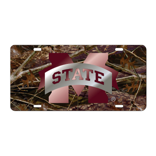 Mississippi State TAG (LASER CAMO M-STATE TAG (25086))
