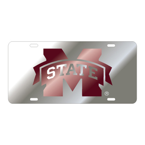 Mississippi State TAG (LASER SIL/WINE M STATE (25021))