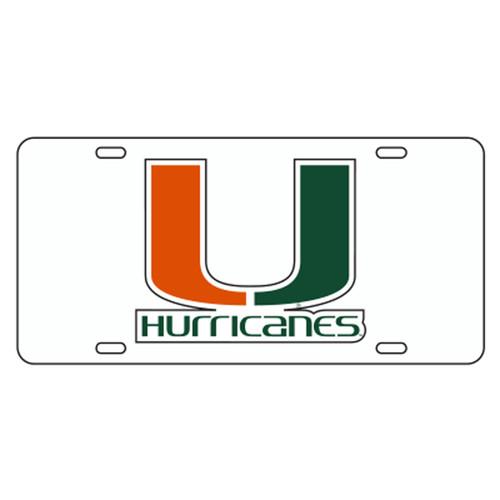 Miami TAG (REF WHT/ORG/GRN U HURRICANES (23505))