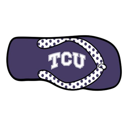 Texas Christian (TCU) HitchCover (DOMED TCU FLIP FLOP HITCH (22930))
