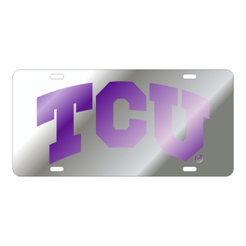 Texas Christian (TCU) TAG (LASER SIL/PUR TCU TAG (22842))