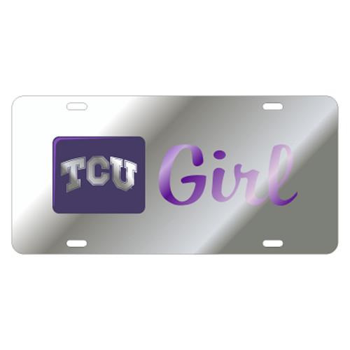 Texas Christian (TCU) TAG (LASER SIL/PUR TCU GIRL TAG (22887))